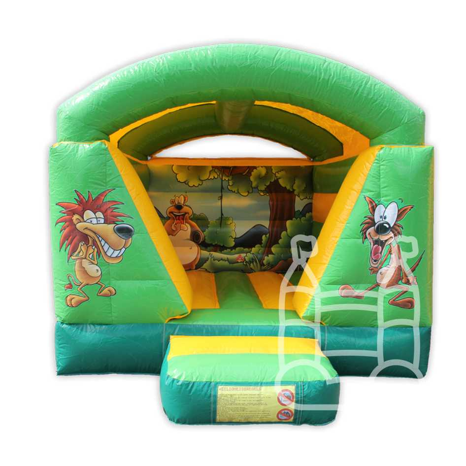 Springkussen Mini Jungle met dak 4x3m huren
