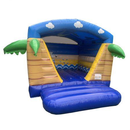 Springkussen mini beach met dak huren